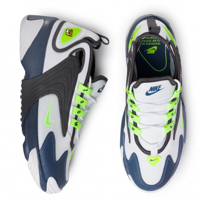 Zapatos Nike - Zoom 2k Ao0269 108 White/ghost Green/iron Grey Sneakers De Hombre