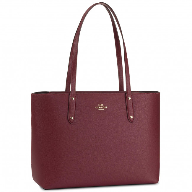 Bolso COACH - Pbbl Cen Tot Zip 69424 GDDPR GD/Deep Red