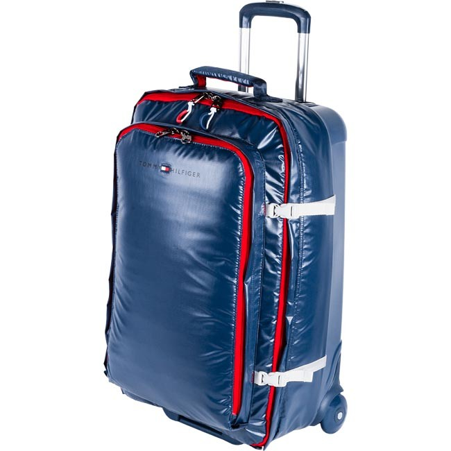 Maleta mediana blanda TOMMY HILFIGER - Cruise Hybrid Medium Trolley 2A TWS424 08  Blue