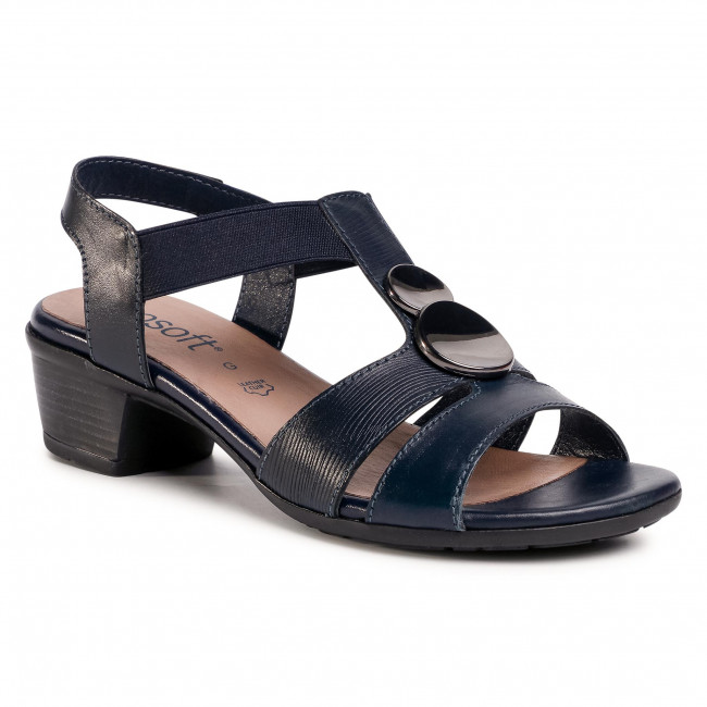 Sandalias Go Soft - Wi23-betty-04 Cobalt Blue Para Diario Chanclas Y