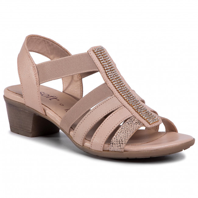 Sandalias Go Soft - Wi23-betty-02 Beige Para Diario Chanclas Y