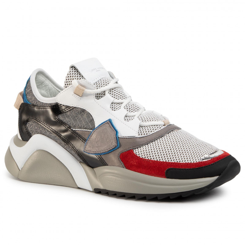 Sneakers PHILIPPE MODEL - Eze EZLU FY02 Gris/Noir/Rouge - Sneakers - Zapatos - de hombre