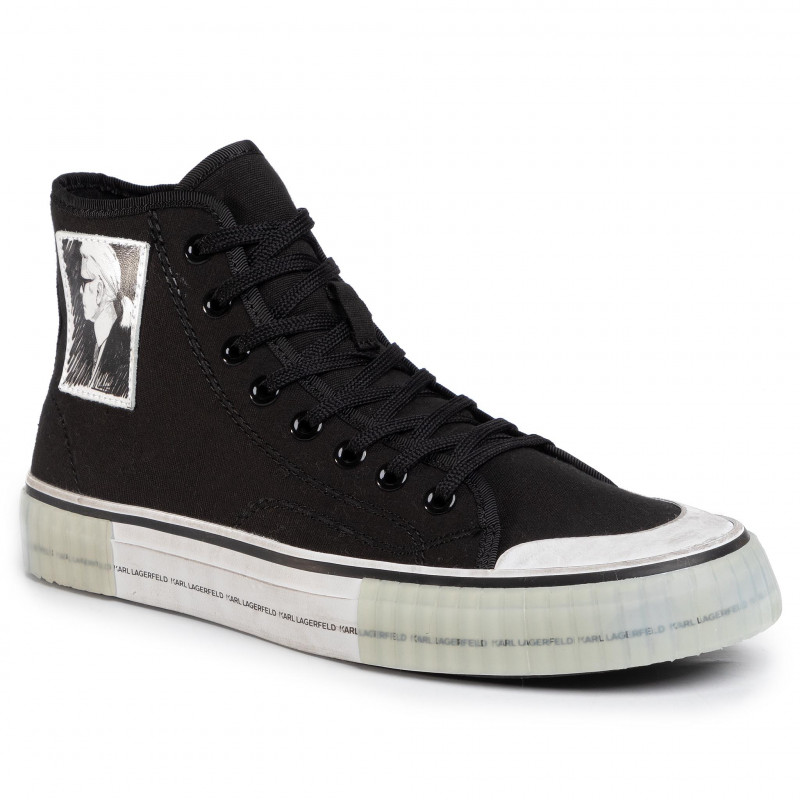 Sneakers KARL LAGERFELD - KL50151 Black Canvas 900 - Sneakers - Zapatos - de hombre