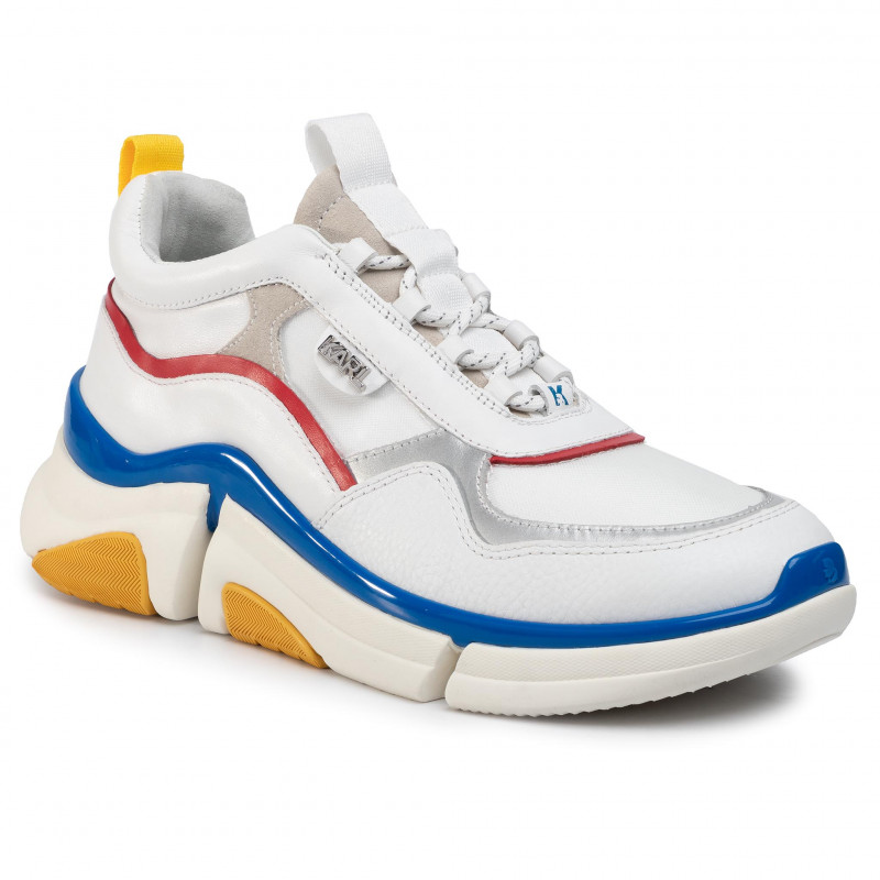 Sneakers KARL LAGERFELD - KL51721 White Lthr/Textille W/Multi - Sneakers - Zapatos - de hombre