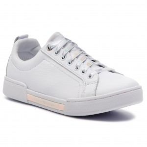 fda0f6a47f Sneakers TOMMY HILFIGER - Iridescent Fashion Sneaker FW0FW03966 White 100