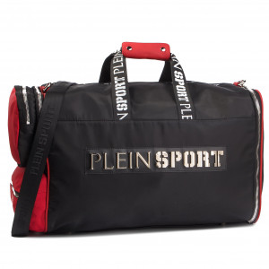 be7c5d20251 Mochila PLEIN SPORT Medium Travel Bag Original S19A UBD0001 STE003N  Black Red 0213