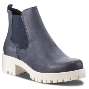 28344e20c2a80 Botines TAMARIS - 1-25056-21 Navy Leather 848 - Medias botas - Botas ...